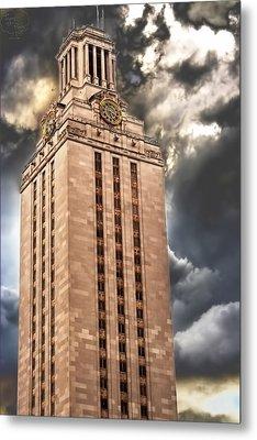Ut Tower Metal Print by Tejas Prints