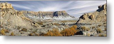 Utah Outback 43 Panoramic Metal Print by Mike McGlothlen