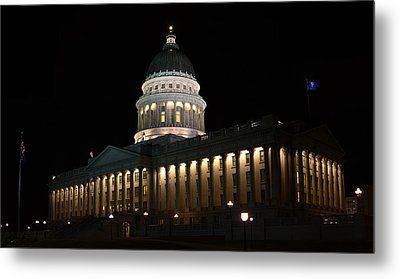 Metal Print featuring the photograph Utah State Capitol East by David Andersen