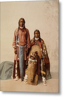 Ute Jose Romero And Family Metal Print by William Henry Jackson