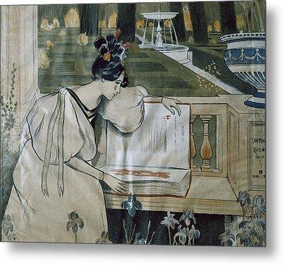 Utrillo, Miquel 1862-1934. Fulls De La Metal Print