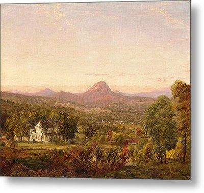 Autumn Landscape Sugar Loaf Mountain. Orange County  New York Metal Print