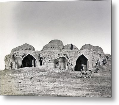 Uzbekistan Caravanseray Metal Print