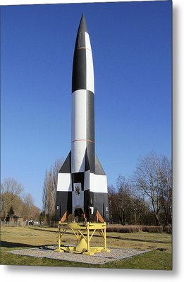 V-2 Rocket Display, Peenemunde, Germany Metal Print