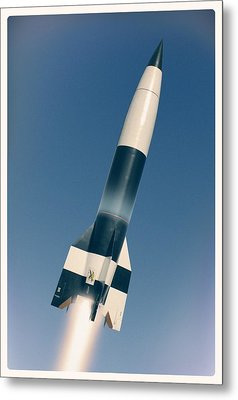 V-2 Rocket Launch, Artwork Metal Print