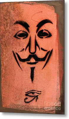 V For Vendetta Metal Print by Gillian Singleton