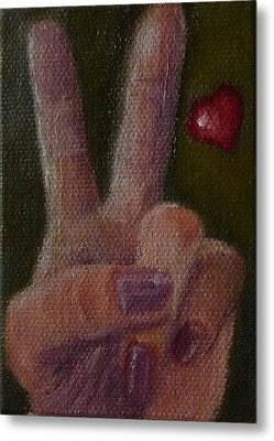 Metal Print featuring the painting V Is For Valentine by Jessmyne Stephenson