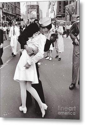 V J Day Times Square - 1945 Metal Print