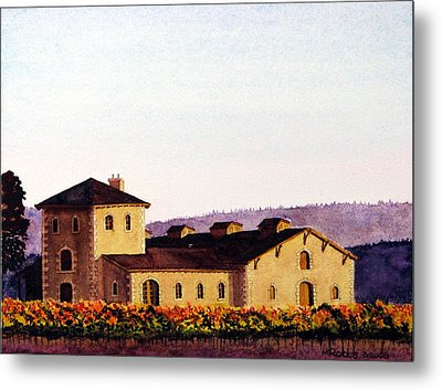 V. Sattui Winery Metal Print by Mike Robles