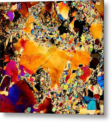 Goldon Nuggets From Space Metal Print