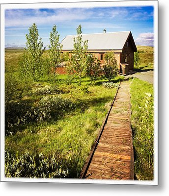 Vacation Home In South Iceland Metal Print by Matthias Hauser