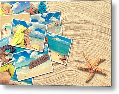 Vacation Postcards Metal Print by Amanda Elwell