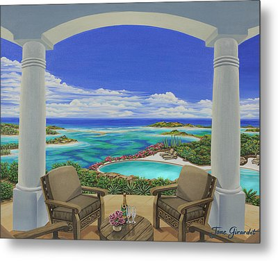 Vacation View Metal Print by Jane Girardot