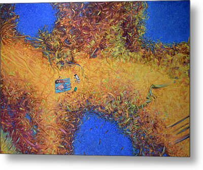 Vacationing On A Painting Metal Print by James W Johnson