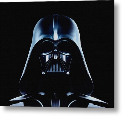 Metal Print featuring the painting Vader by Jeff DOttavio