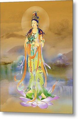 Vaidurya  Kuan Yin Metal Print by Lanjee Chee