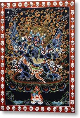 Vajrakilaya Dorje Phurba Metal Print by Sergey Noskov