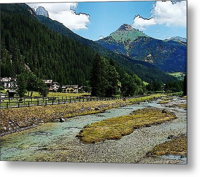 Metal Print featuring the photograph Val Di Fassa by Zinvolle Art
