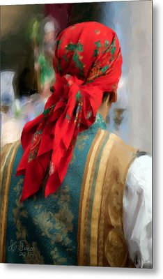 Metal Print featuring the photograph Valencian Man In Traditional Dress. Spain by Juan Carlos Ferro Duque