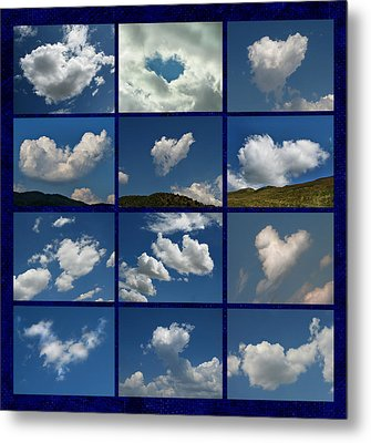 Valentine - Clouds For Sale Collage Metal Print by Daliana Pacuraru