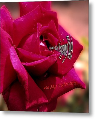 Valentine Dripping Wet Metal Print by Thomas Woolworth