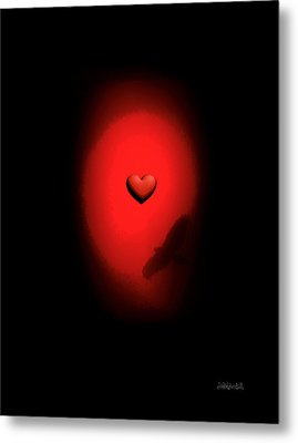 Valentine Heart 2 Metal Print by Brian D Meredith