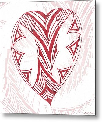 Valentine Heart Metal Print by Amanda Holmes Tzafrir