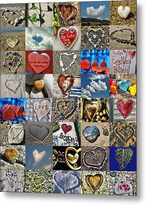 Valentine - Hearts And Memories   Metal Print by Daliana Pacuraru