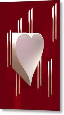 Valentine Paper Heart Metal Print