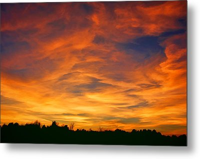 Valentine Sunset Metal Print by Tammy Espino