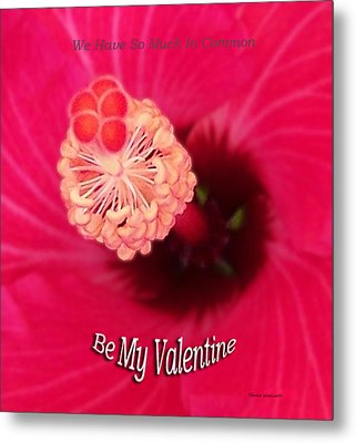 Valentine We Have So Much In Common Metal Print by Thomas Woolworth