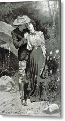 Metal Print featuring the photograph Valentines Day, 1898 by British Library