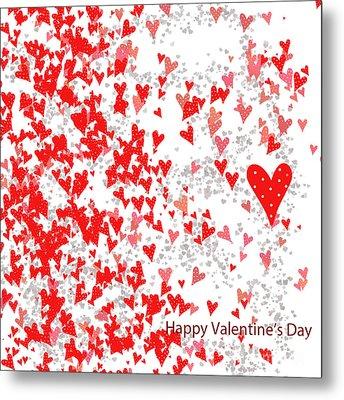 Valentine's Day Card Metal Print