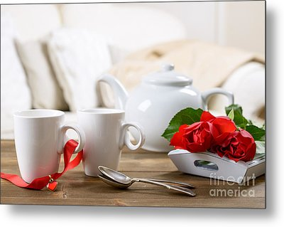 Valentines Day Tea Metal Print by Amanda Elwell