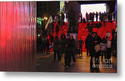 Valentine's Day - Times Square Metal Print by Jeff Breiman