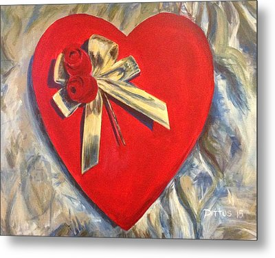 Valentine's Heart Metal Print by Chrissey Dittus