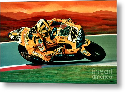 Valentino Rossi The Doctor Metal Print by Paul Meijering