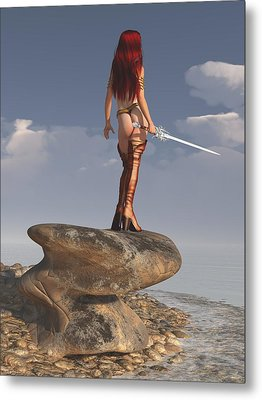 Metal Print featuring the digital art Valkyrie On The Shore by Kaylee Mason