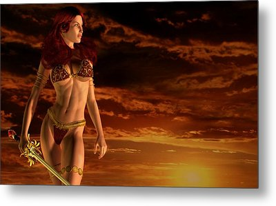 Valkyrie Sunset Metal Print