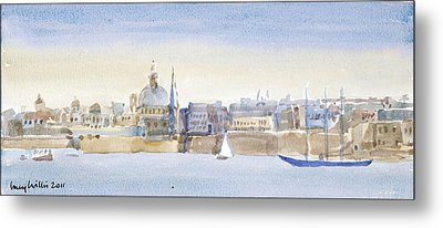 Valletta Skyline Metal Print by Lucy Willis