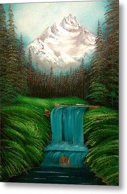 Valley Falls Metal Print by Lynn Lawrence