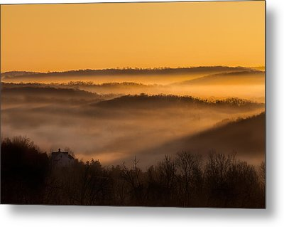 Valley Fog Metal Print by Bill Wakeley