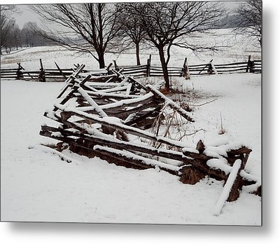 Valley Forge Snow Metal Print by Michael Porchik
