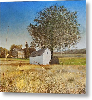 Valley Forge Spring House Metal Print by Randall Graham