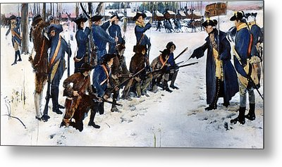 Valley Forge: Steuben, 1778 Metal Print by Granger