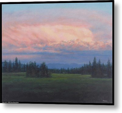 Valley Gold Metal Print by Diana Moses Botkin