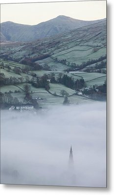 Valley Mists Metal Print