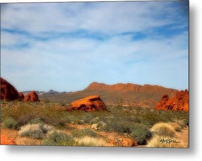 Valley Of Fire Metal Print by Marti Green