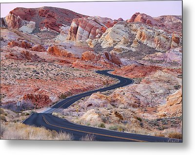 Valley Of Fire Road Metal Print by Patrick Downey