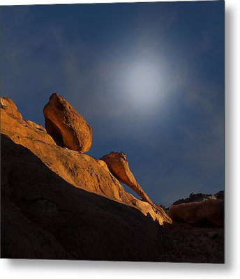 Valley Of Fire Square One Metal Print